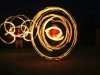 Fire poi and fire hula hoop