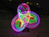 LED Hula hoop - triquetra pattern