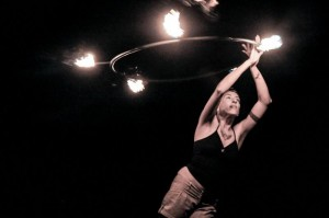 Natacha with fire hoop