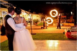 wedding fire dancers