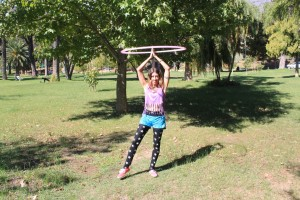 hooping in the park